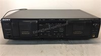 Sony Dual Cassette Deck TC-WE435 Powers on