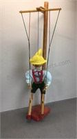 """Wood Marionette Doll 16"""""""