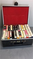 Case of Various 8 Track Tapes