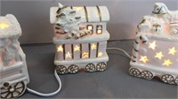 Lighted Ceramic Santa Train