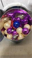 Christmas Tins Full of Plastic Ornaments