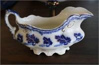 Carnival Glass Pedestal Bowl & Creamer