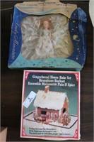 Vintage Doll & Gingerbread Set