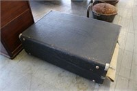 Large Leather Antique Suitcase