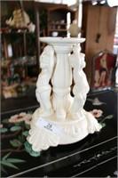2pc. Large Ceramic Candleholder