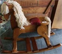 Large Wood Rocking Horse