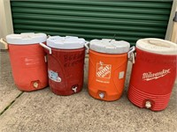 4 Water Coolers (Each 5 Gallons)