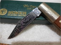 """Boker 3 1/4"""" Barlow Style 1995 Etched Hunting"""