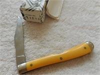 """Queen Steel 4"""" #11EOA Yellow single blade (box)"""