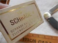 "Schrade Old Timer 5"" lock back 510T green (box)"