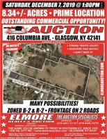 8.34 AC. - PRIME LOCATION - COMMERCIAL OPPORTUNITY