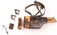 Lot of Vintage Military Pistol Holsters & Leather
