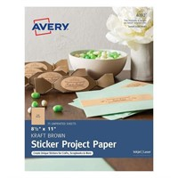 Avery Full-Sheet Sticker Paper for Holiday Crafts,