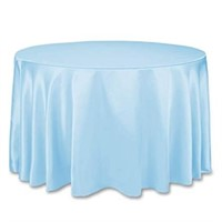 (3) LinenTablecloth 108-Inch Round Satin