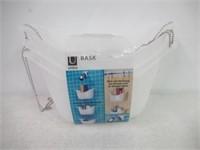 Umbra, White Bask Hanging Shower Caddy, Bathroom