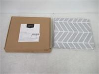 Grey Herringbone Shower Curtain - 72 Inch