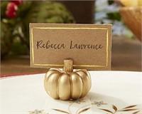 Kate Aspen 25284NA Pumpkin Place Card Holder, Set
