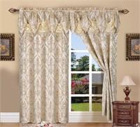 Elegant Comfort Penelopie Jacquard Look Curtain