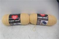 (2) Cornmeal - Red Heart Super Saver Yarn