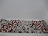 "Modern Floral Runner Rug 2' X 7' 2"" Red"