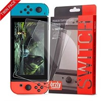 Orzly Glass Screen Protectors Compatible with