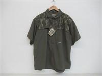 Drake Men's XL Duck Hunting Polo T-Shirt, Green