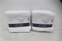 (2) Mainstays Bar Mop Dishcloth 12 Pack White 12""