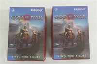 (2) Kidrobot God of War Mini Figure Blind Box -