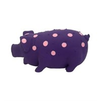 (3) Firefly Stuffed Latex Polka Dotted Pig That