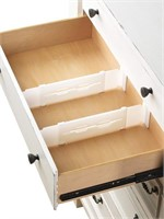 Whitmor Adjustable Organizers Drawer Dividers, Set
