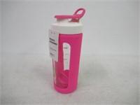 Ello Splendid Glass Shaker 20oz Bottle Pink