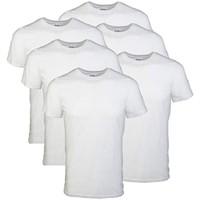 Gildan Men's Medium Crew T-Shirt 6 Pack, White