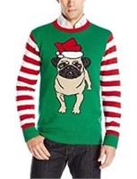 Ugly Christmas Sweater Unisex LG Pug Sweater -
