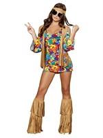 Roma Costume 3 Piece Hippie Hottie Costume,