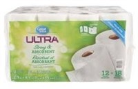 Great Value Ultra Paper Towels, 12 Giant Rolls