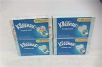 (4) Kleenex 100 2-Ply Tissues