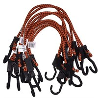 Kotap Adjustable 24-Inch Bungee Cords, 10-Piece,