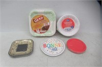 Lot Of Paper Plates, Different Sizes, Colours,