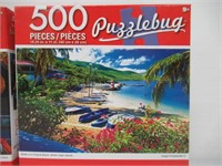 (2) 500 Piece Puzzle by Cra-Z-Art 18.25 x 11