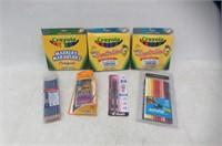 Lot Of Markers, Pencil Crayons, Pens, & Pencils
