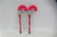 (2) Hard Candy Candy Cane Kisses