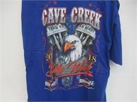 3XL Cave Creek Bike Week 2018 T-Shirt, Blue