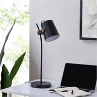Southern Enterprises Vander Table Lamp, Black