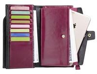 PARVENZA Women's RFID Blocking Leather Wallet,