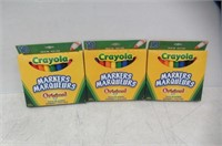 (3) Crayola Original Markers, Broad Line, 10-Pack