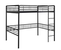 DHP Full Metal Loft Bed with Ladder, Space-Saving