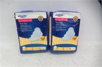 (2) Equate Regular Maxi Pads with Flexi-Wings,