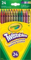 (3) Crayola Twistables Coloured Pencils - 24