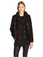 London Fog Women's Double Breasted Peacoat with