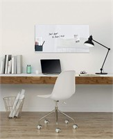 Sigel Contemporary Magnetic Glass Board, White,